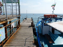 小船码头威尼斯 免版税图库摄影