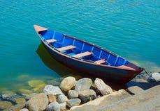 小船码头威尼斯 免版税库存图片