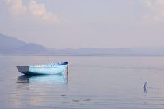 小船空的捕鱼 免版税库存图片