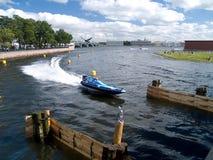 小船竞争马达 免版税图库摄影