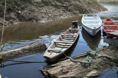 小船等待 免版税图库摄影