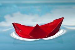 小船红色 免版税库存照片