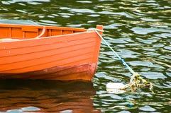 小船红色 免版税图库摄影