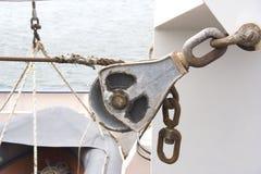 小船绞盘 库存照片