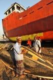 小船维修服务 免版税图库摄影