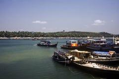 小船缅甸 免版税库存图片