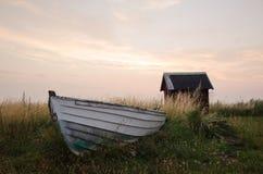 小船老划船 库存照片