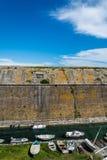 小船老堡垒,科孚岛海岛,希腊外 库存图片
