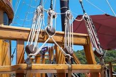 小船老航行字符串 免版税库存图片