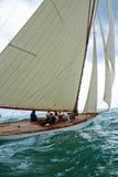 小船老航行 库存图片