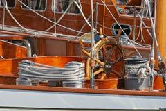 小船航行 库存图片