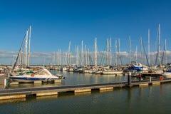 小船船坞在Parque das Nacoes在里斯本 库存图片