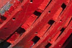 小船船身红色 免版税库存图片