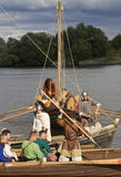 小船节日历史北欧海盗 免版税库存照片