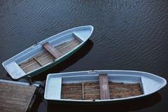 小船英国minehead荡桨的二 库存照片
