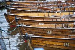 小船荡桨 库存照片