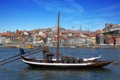 小船葡萄牙传统 库存图片