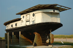 小船葡萄酒 库存照片