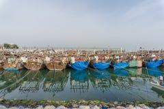 小船被中断的捕鱼 免版税库存照片