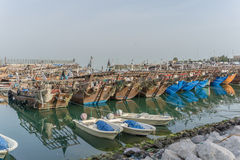 小船被中断的捕鱼 图库摄影