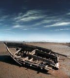 小船被中断的老 免版税图库摄影