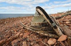 小船被中断的老 免版税库存图片