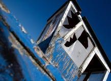 小船被打碎的视窗 免版税库存图片