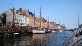小船视图在哥本哈根丹麦 免版税库存照片