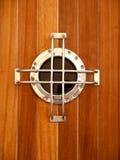 小船视窗 免版税库存照片