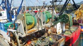 小船设备在Howth 库存照片