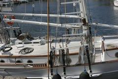 小船详述航行 免版税库存照片