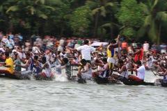 小船赛跑在喀拉拉 库存图片
