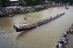 小船赛跑在喀拉拉 免版税库存照片