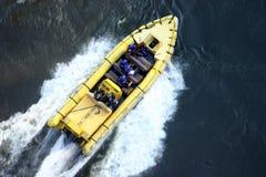 小船赞比西河 库存图片