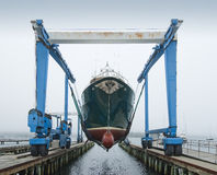 小船起重机 图库摄影