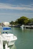 小船运河佛罗里达回归键 免版税库存图片