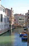 小船运河威尼斯 库存照片