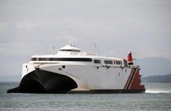 小船通勤者轮渡向多巴哥特立尼达 库存图片