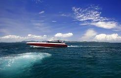 小船速度 库存照片