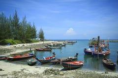 小船酸值长的phangan尾标泰国传统 库存图片