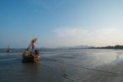 小船钓鱼泰国 图库摄影