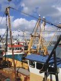 小船钓鱼海港普利茅斯 图库摄影