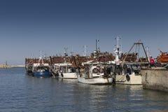 小船钓鱼海港 库存照片