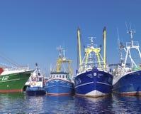 小船钓鱼海港 库存图片