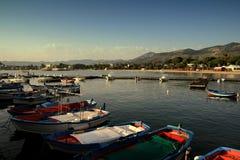 小船钓鱼西西里人 免版税库存图片