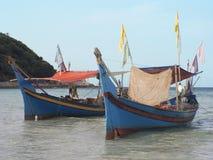 小船钓鱼 图库摄影