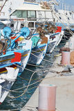 小船钓鱼 免版税库存照片