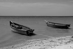 小船钓鱼 库存图片
