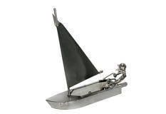 小船铁航行玩具 免版税库存照片