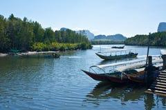 小船长尾的泰国 免版税库存图片